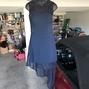 Dresses & Skirts - Navy Interview Dress with Mesh